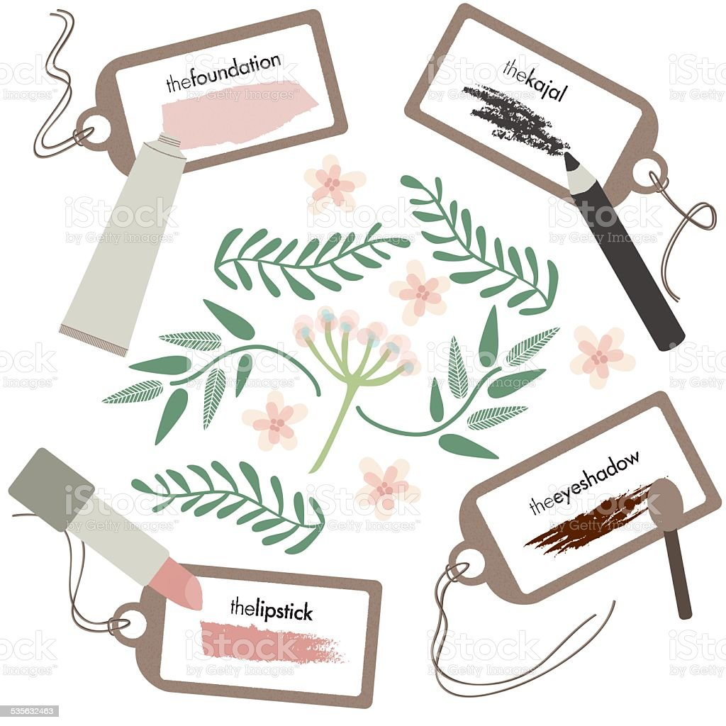 Make Up products and tools - Illustration vector art illustration