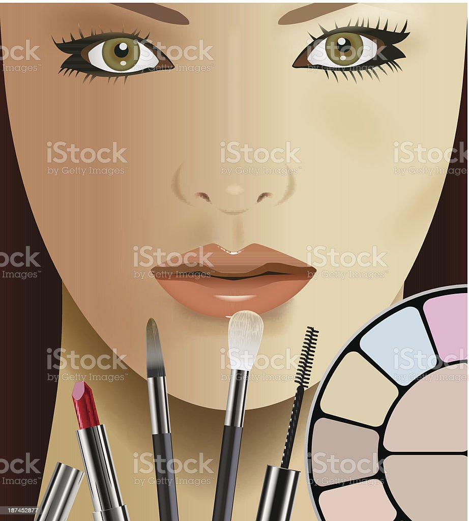 make up royalty-free stock vector art