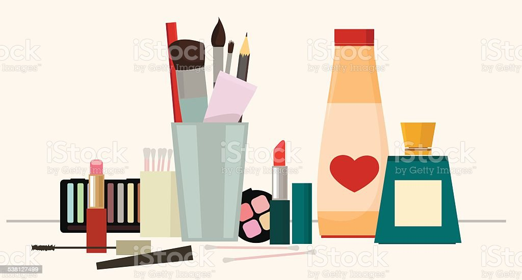 Make up vector art illustration