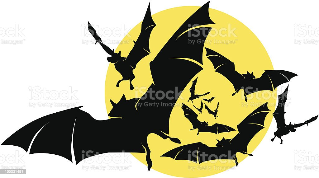 make way for the bats! royalty-free stock vector art