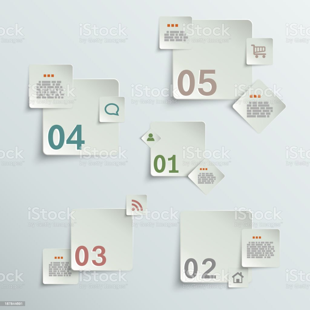 Make your choice - paper stickers royalty-free stock vector art