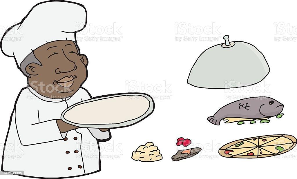 Make Your Own Platter vector art illustration