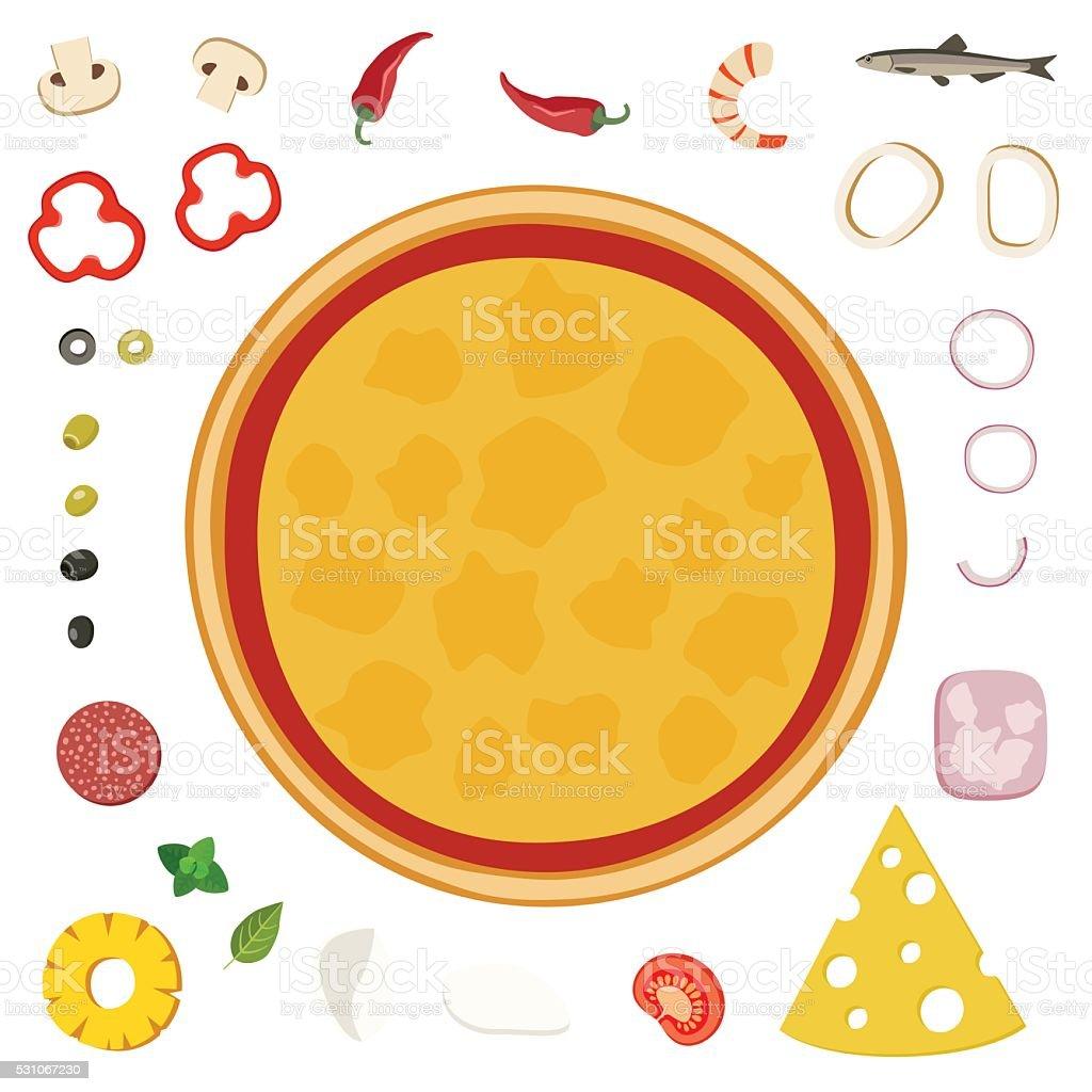 Make your pizza vector art illustration