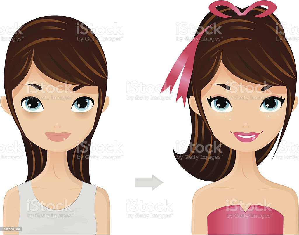 Makeover royalty-free stock vector art