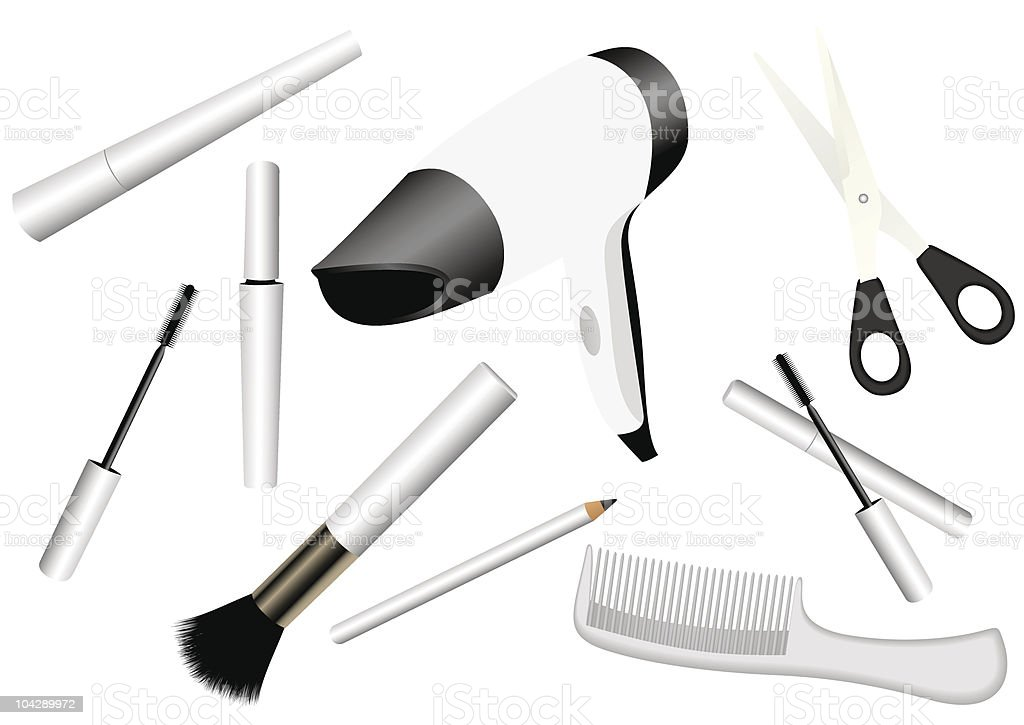 make-up accessories royalty-free stock vector art