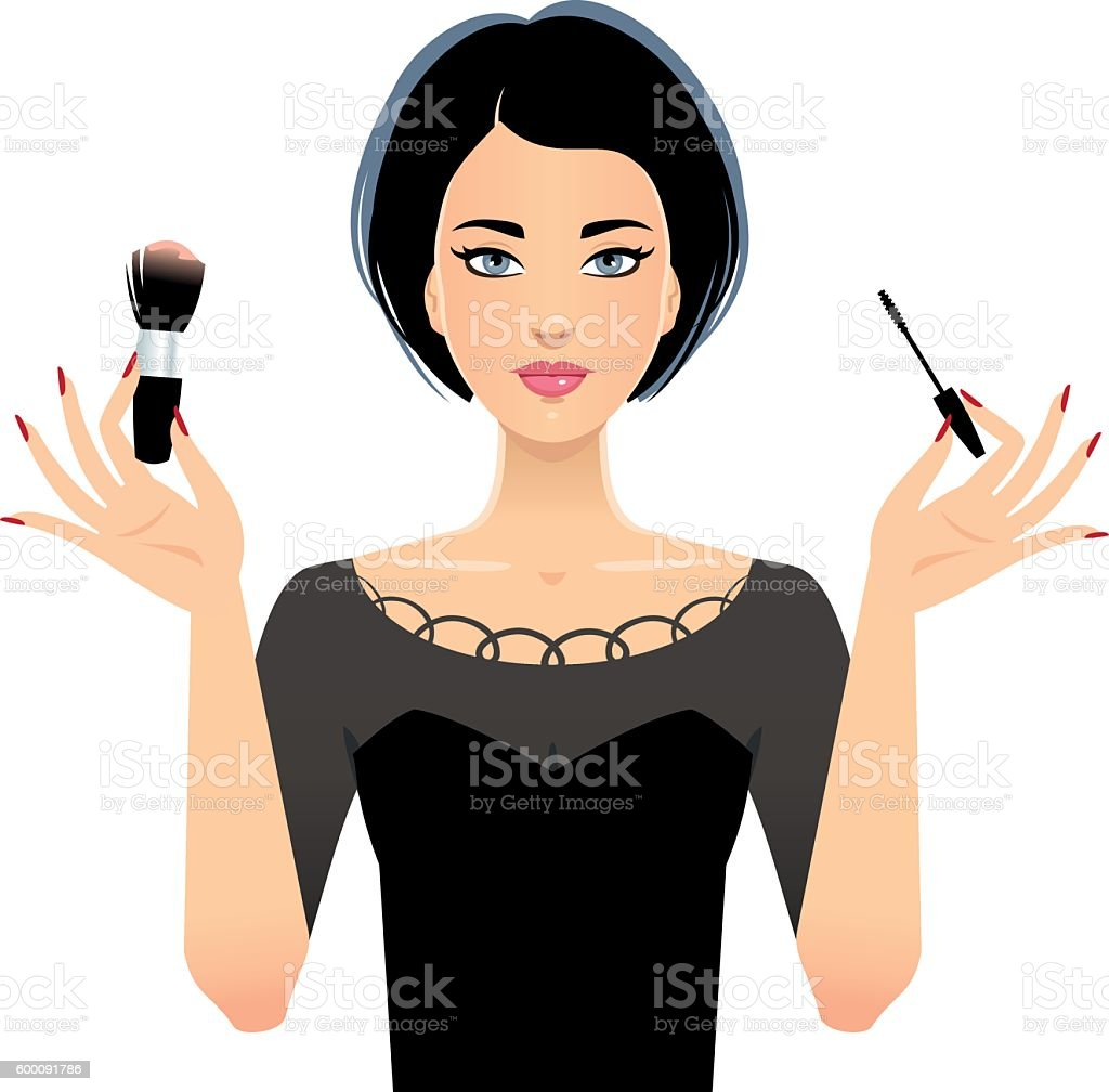 Makeup artist vector art illustration