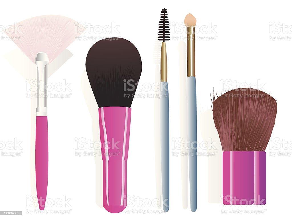 Make-up brushes royalty-free stock vector art