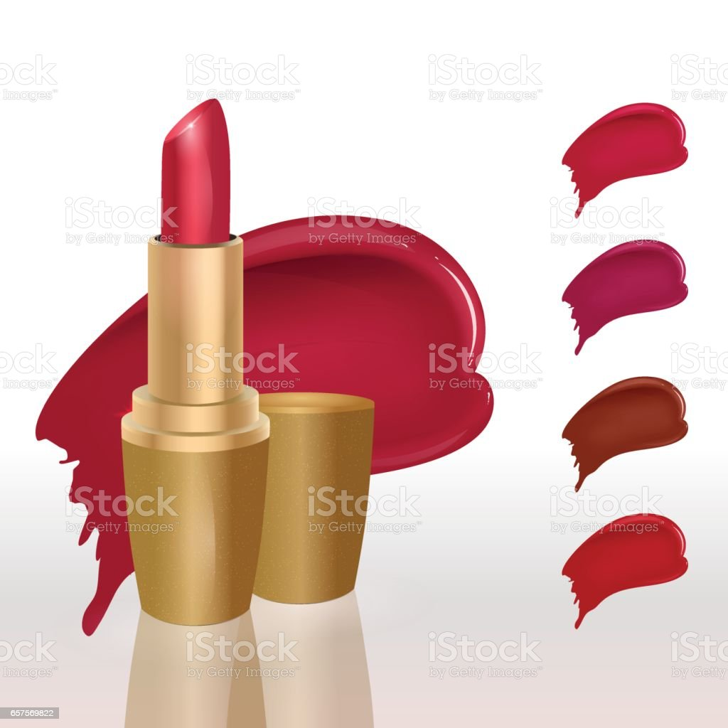 makeup colorful lipstick set lipstick swatches for catalog template