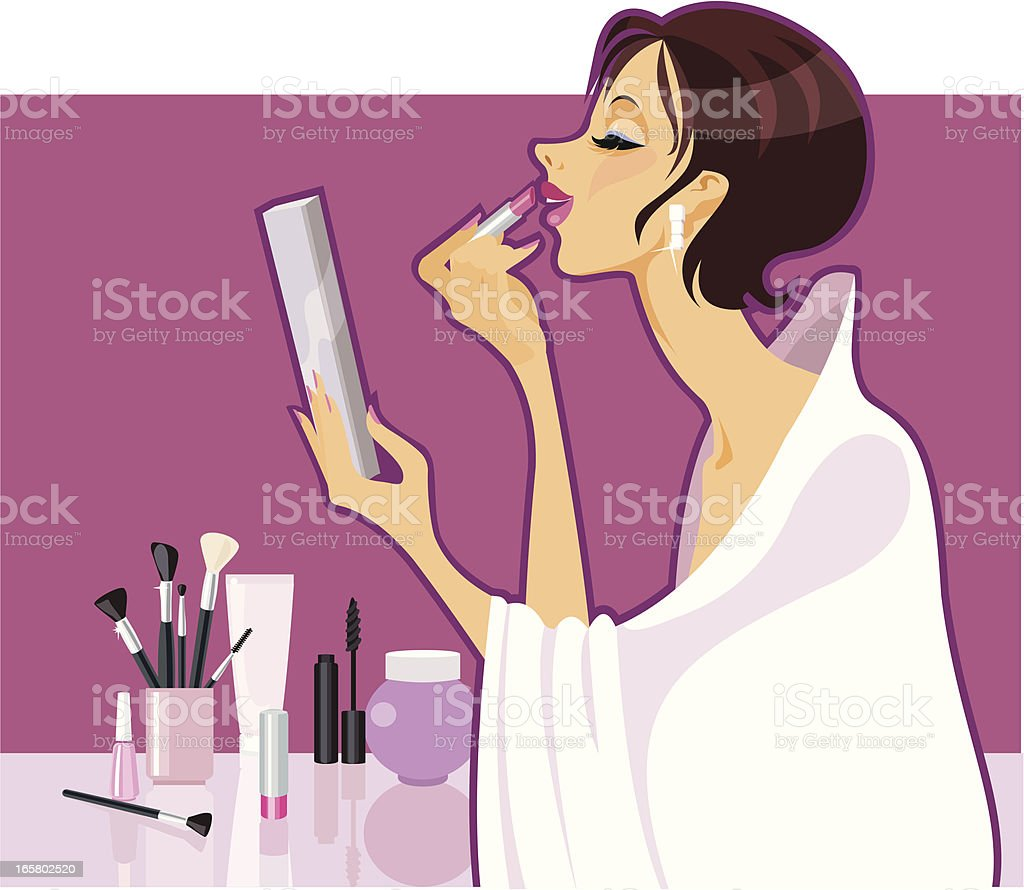 Make-up Girl vector art illustration