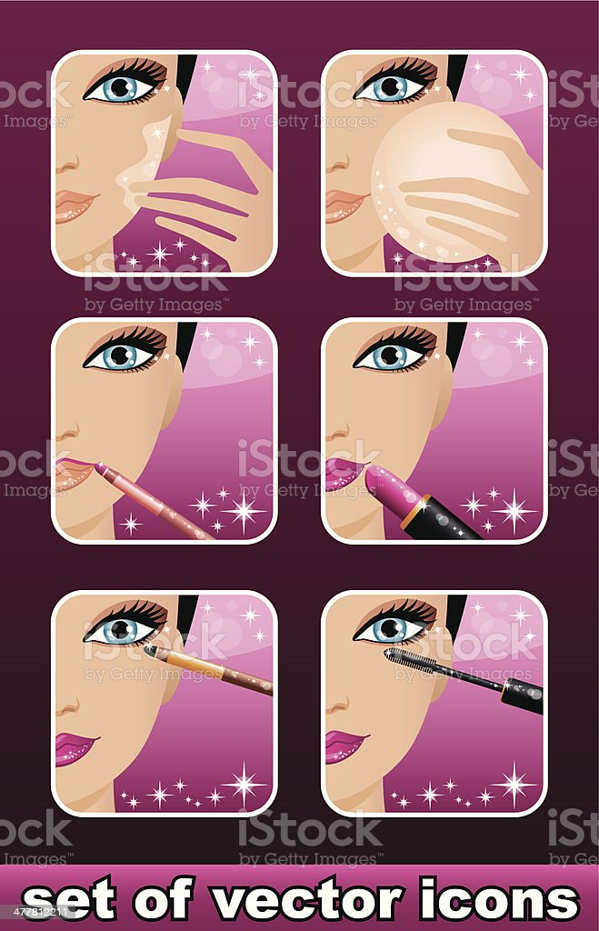 Makeup icons royalty-free stock vector art