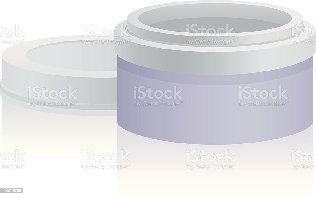 Makeup Jar royalty-free stock vector art