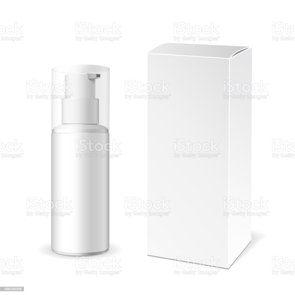 Make-up packaging product vector art illustration