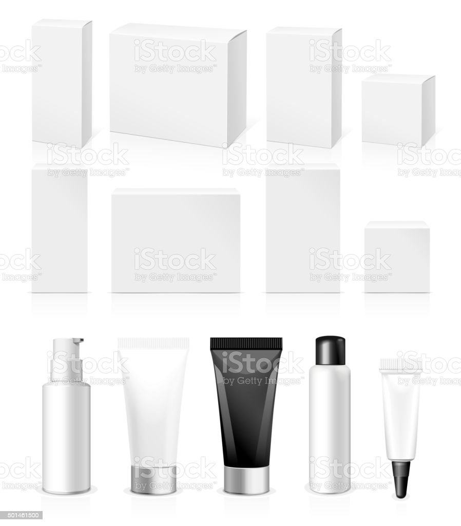 Make-up packaging product vector art illustration