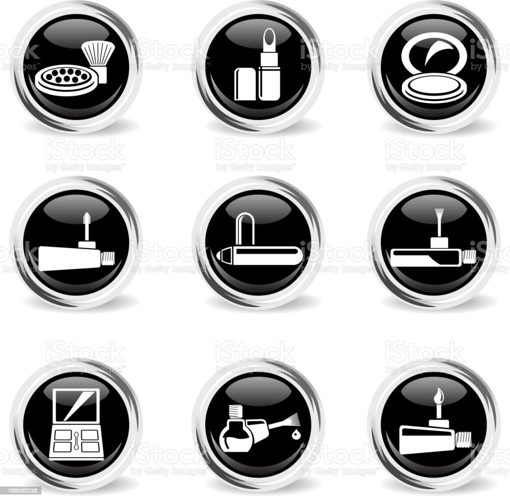 make-up products chrom icons royalty-free stock vector art