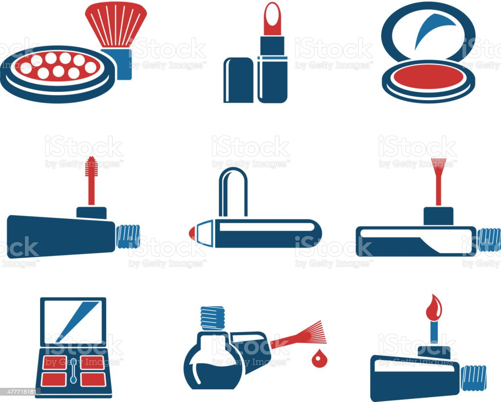 make-up products icons royalty-free stock vector art