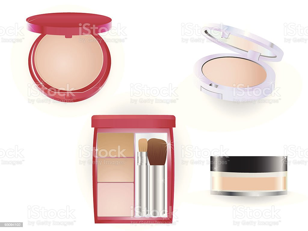 Make-up set royalty-free stock vector art