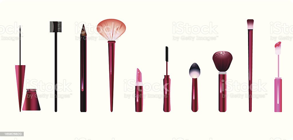 Make-Up Tools vector art illustration