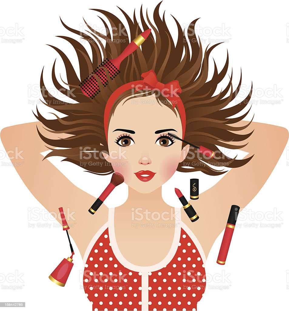 Makeup royalty-free stock vector art
