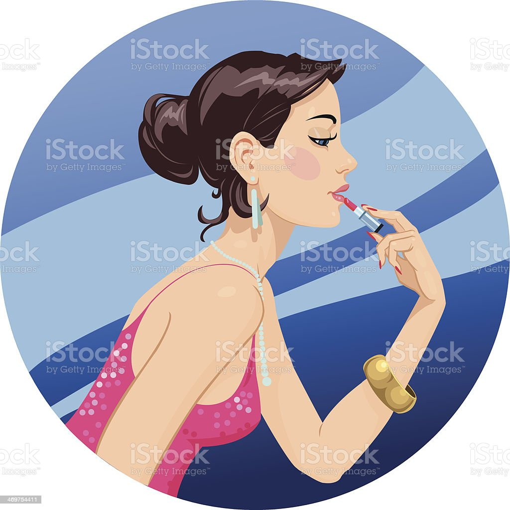 Makeup royalty-free stock vector art