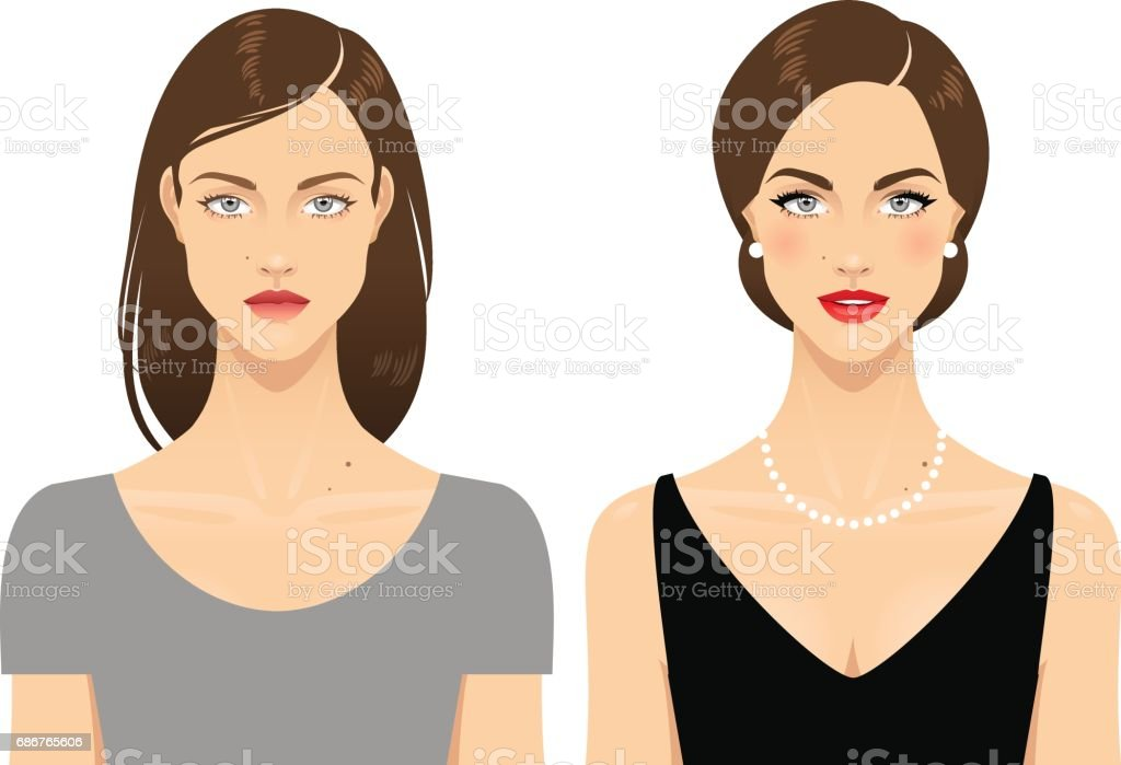 Makeup vector art illustration