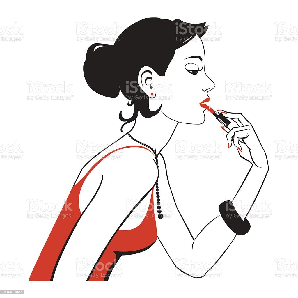 Makeup vector illustration royalty-free stock vector art