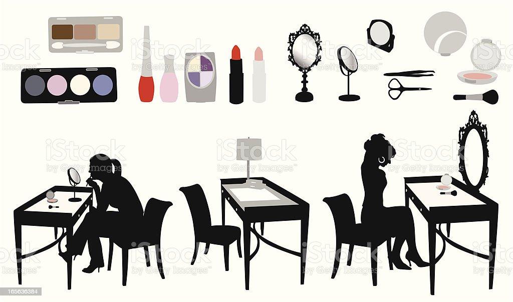 Makeup Vector Silhouette royalty-free stock vector art