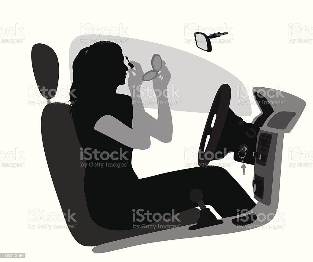 MakeUp Vector Silhouette vector art illustration