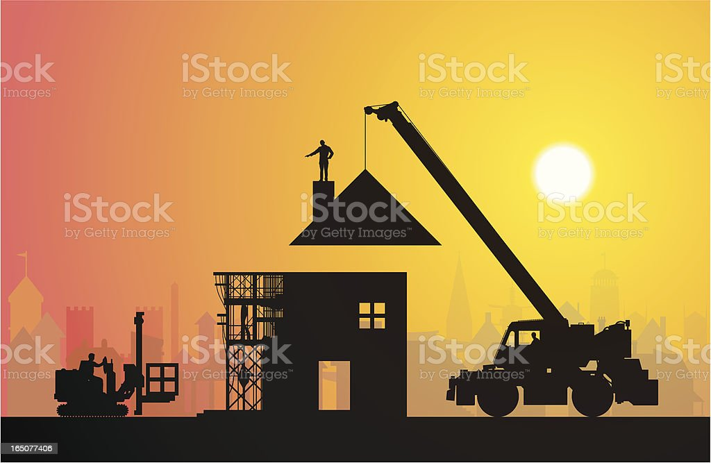 Making a Home royalty-free stock vector art
