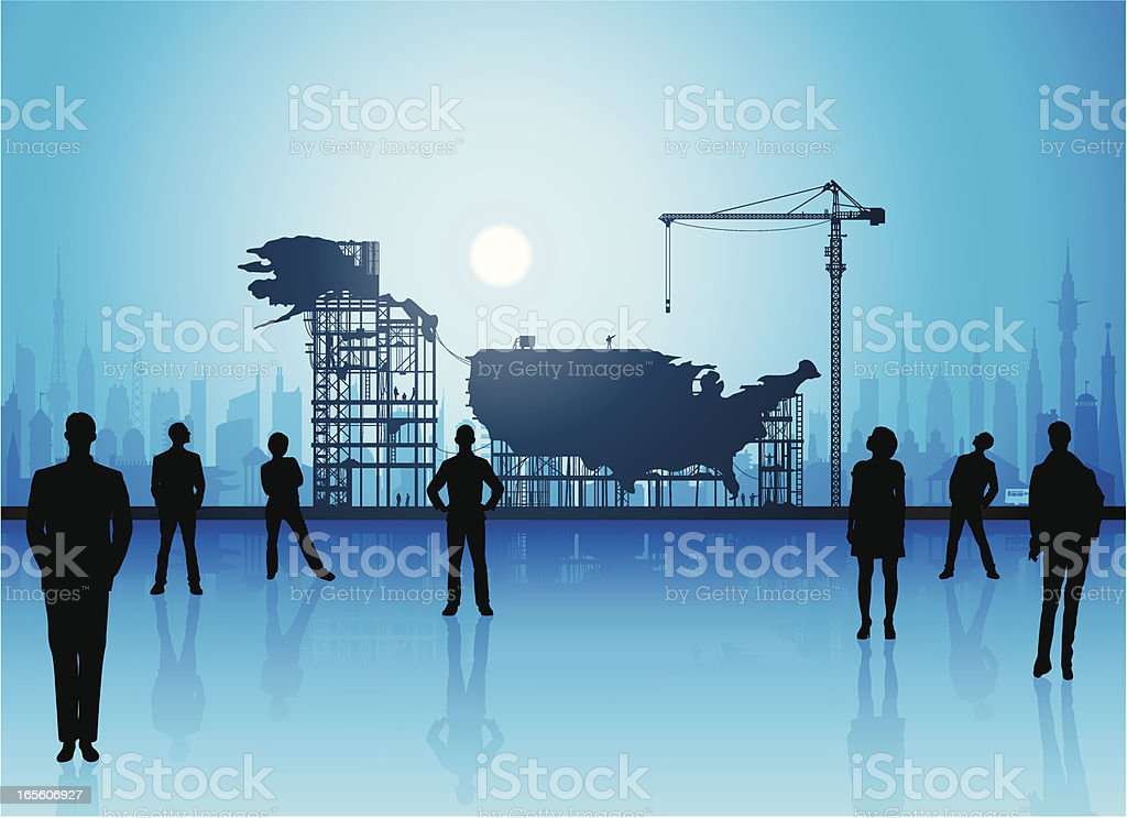 Making a New America royalty-free stock vector art