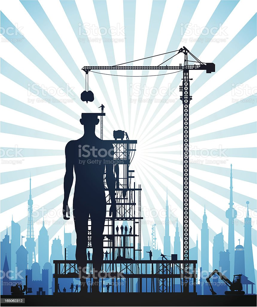 Making a New Human in the City royalty-free stock vector art
