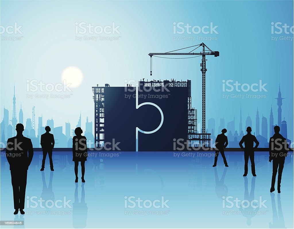 Making a Puzzle royalty-free stock vector art