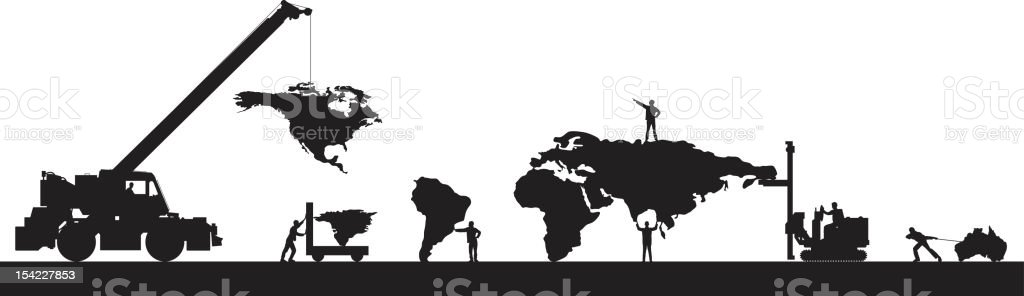 Making a Small World royalty-free stock vector art
