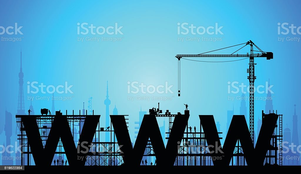 Making a Webpage vector art illustration