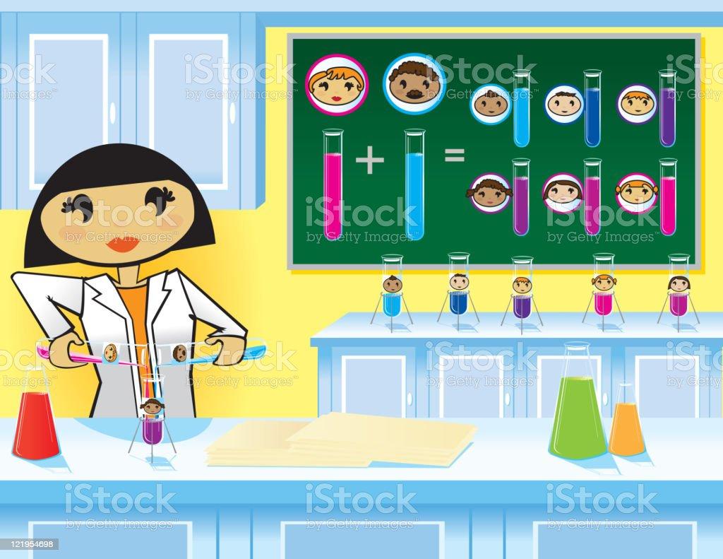 Making Babies - The Scientific Way royalty-free stock vector art