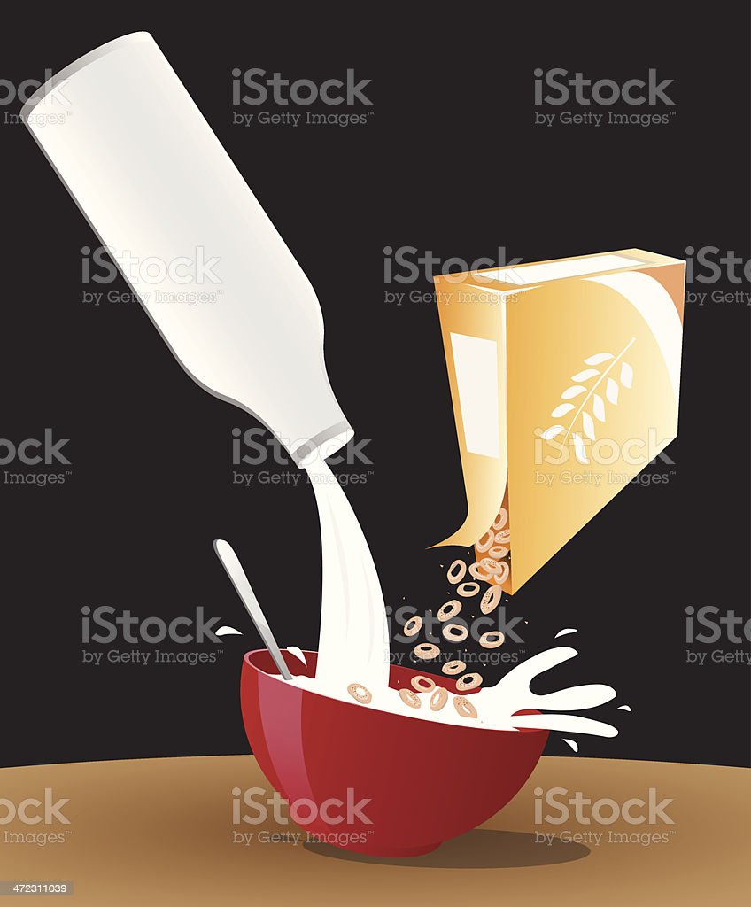 Making cereal royalty-free stock vector art