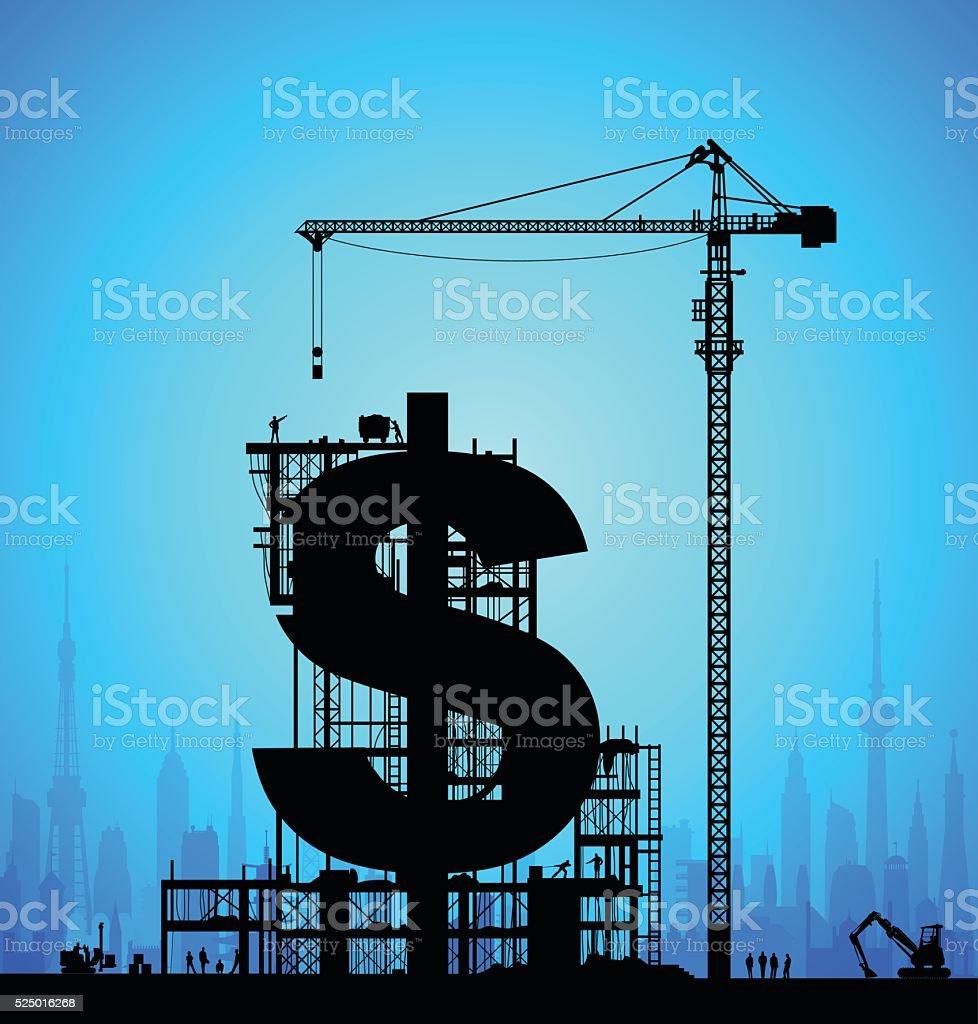 Making Dollars vector art illustration