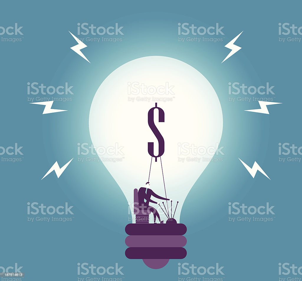 Making Idea royalty-free stock vector art