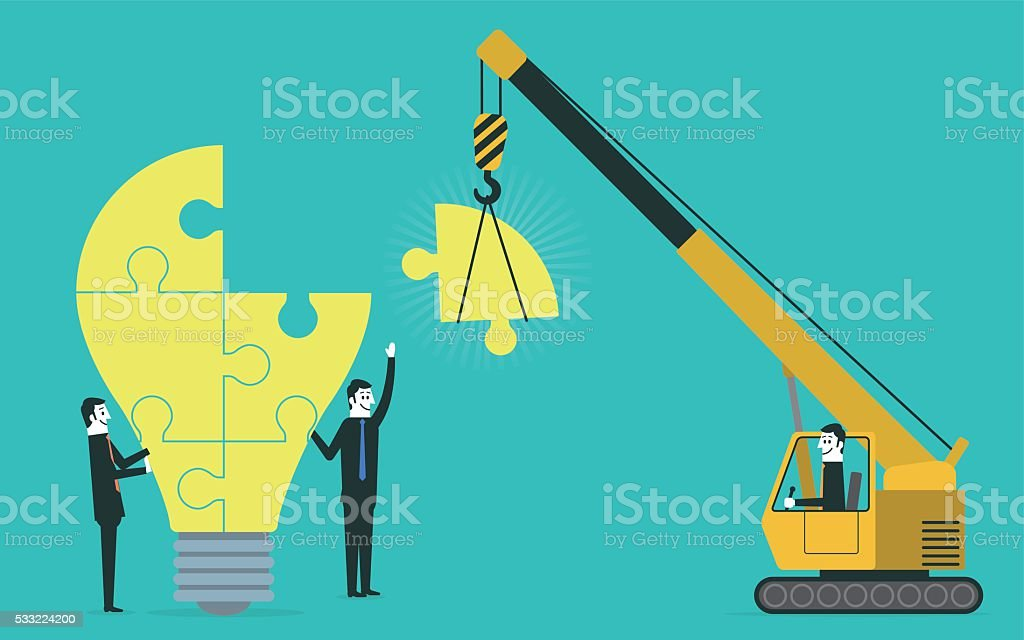 Making Ideas vector art illustration
