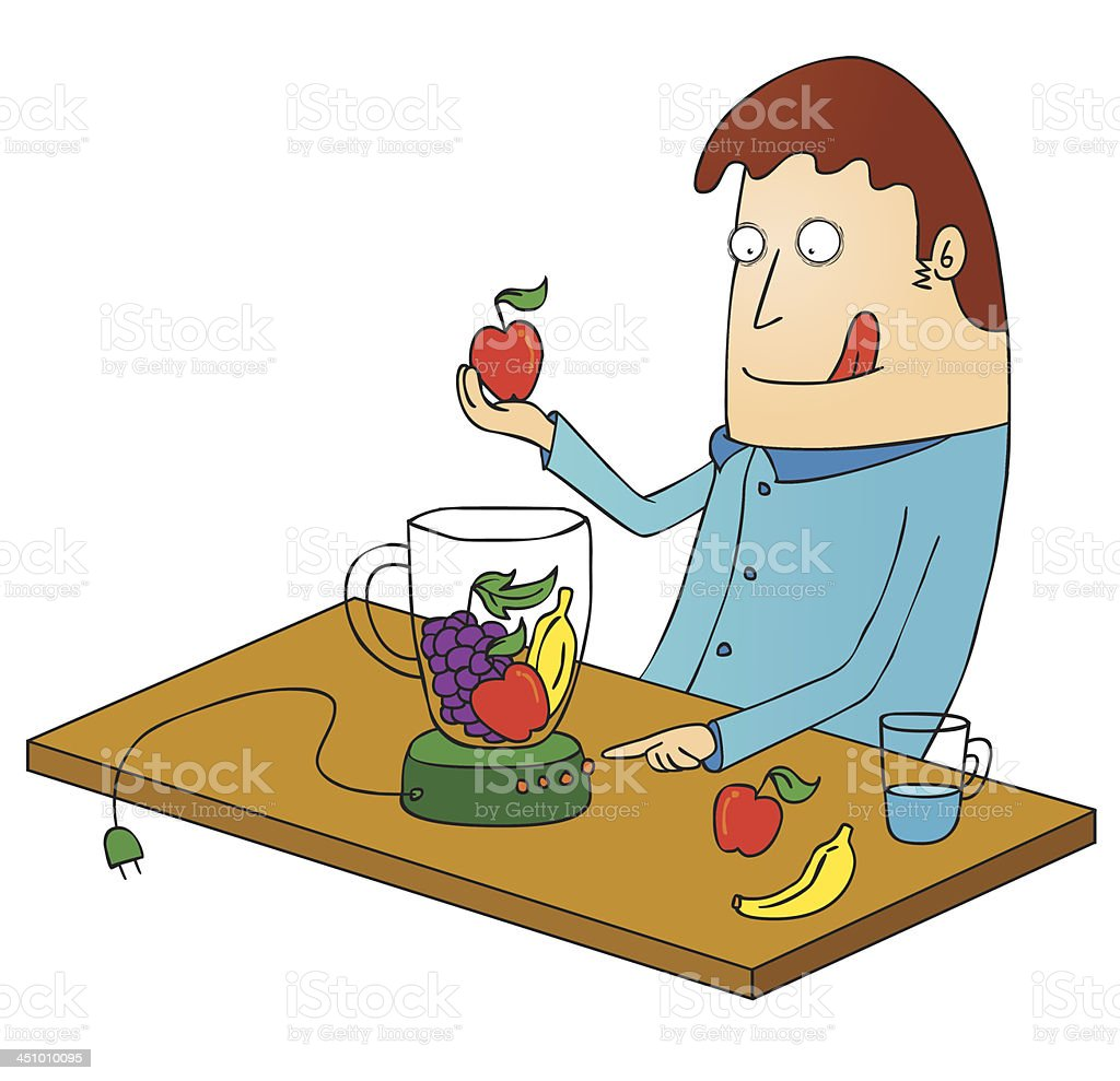 making juice royalty-free stock vector art