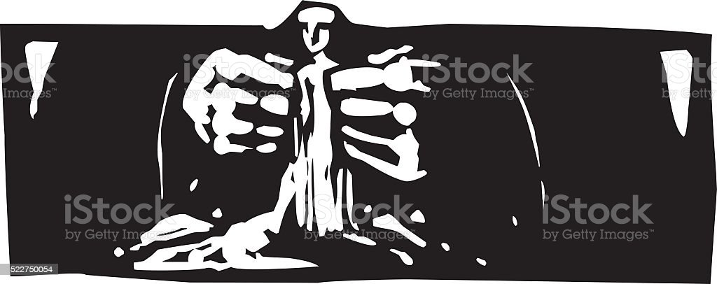Making Man vector art illustration