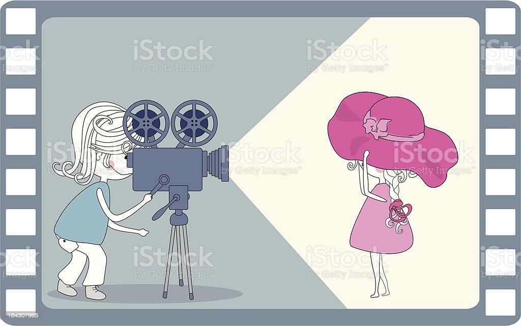 making movie royalty-free stock vector art