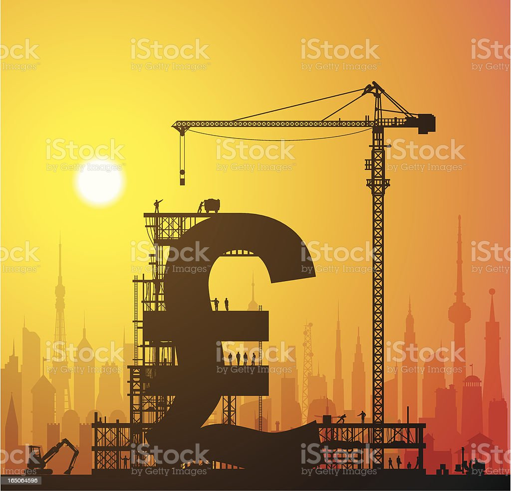 Making Pounds in the City royalty-free stock vector art