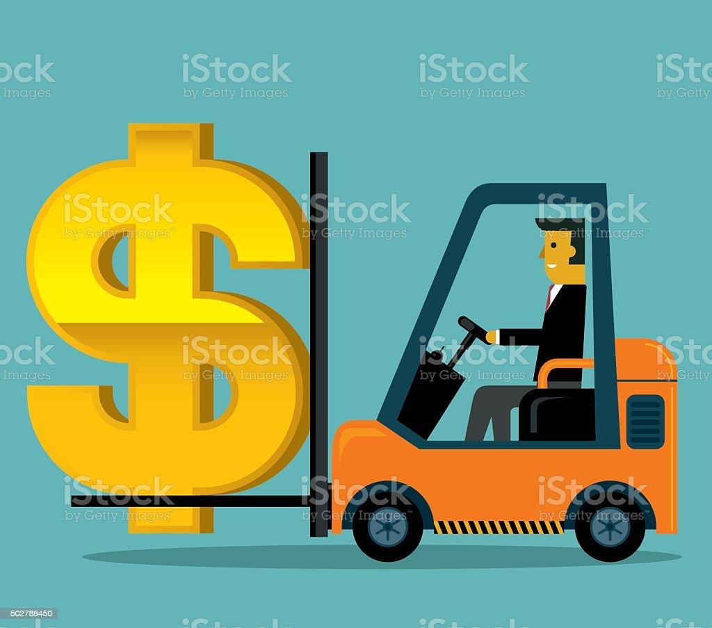 Making Profit vector art illustration