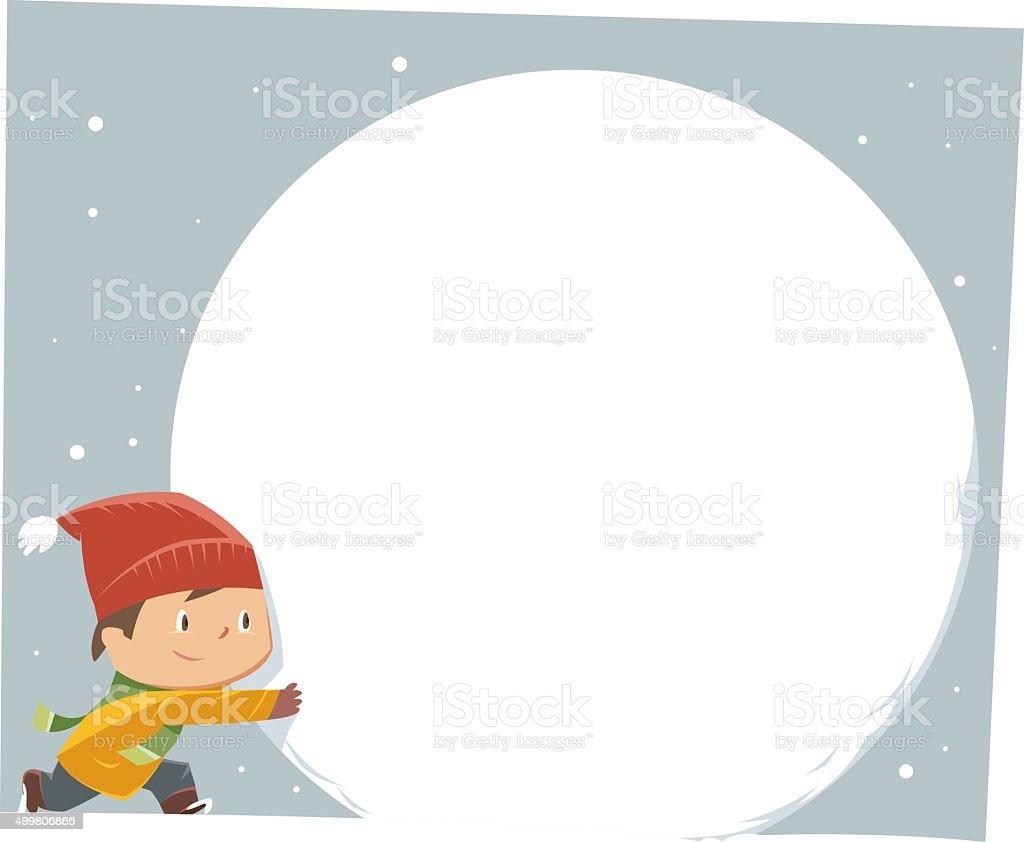 Making Snowmen vector art illustration