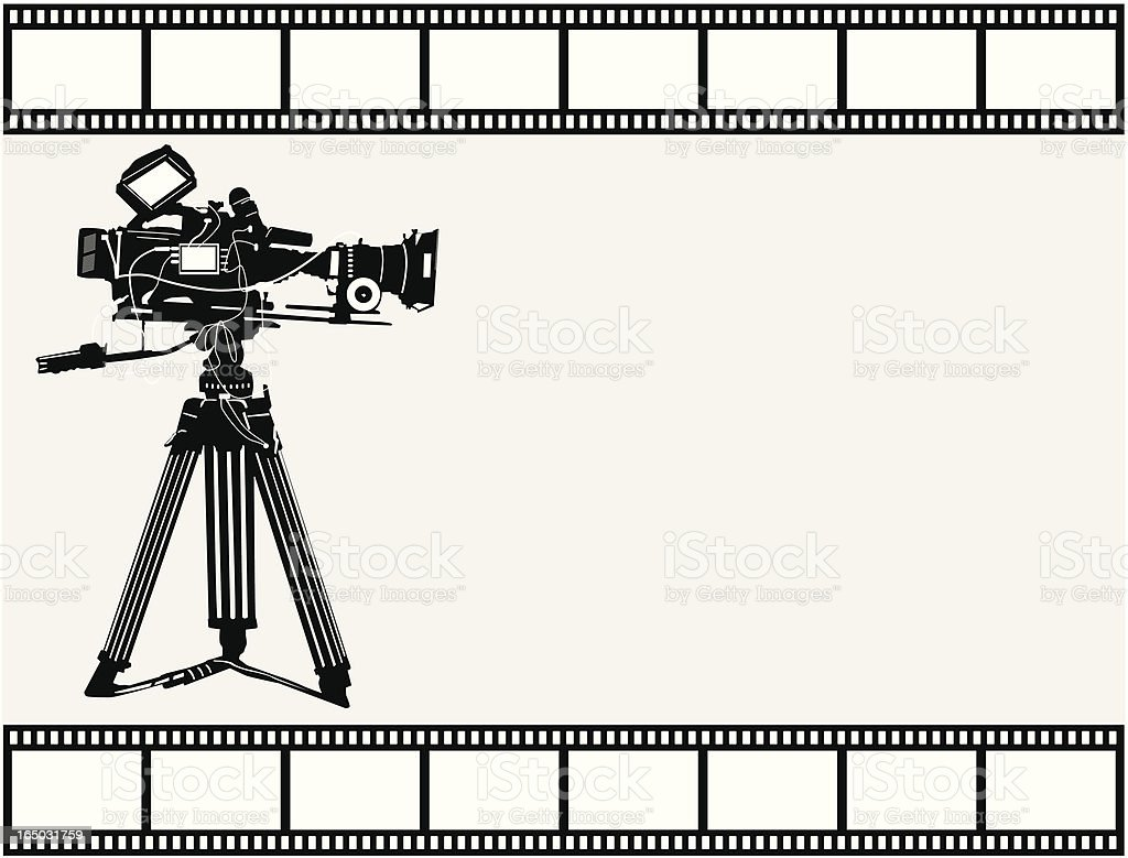 Making the Movie ( Vector ) royalty-free stock vector art