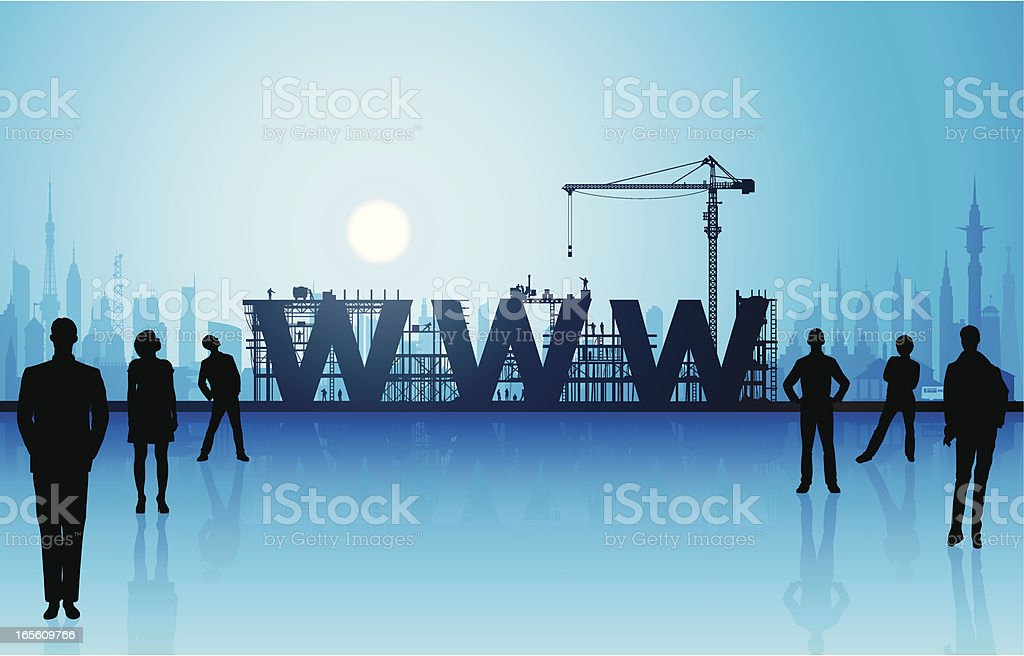 Making the Web royalty-free stock vector art
