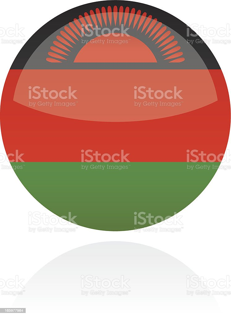 Malawi, Africa Flag Button royalty-free stock vector art