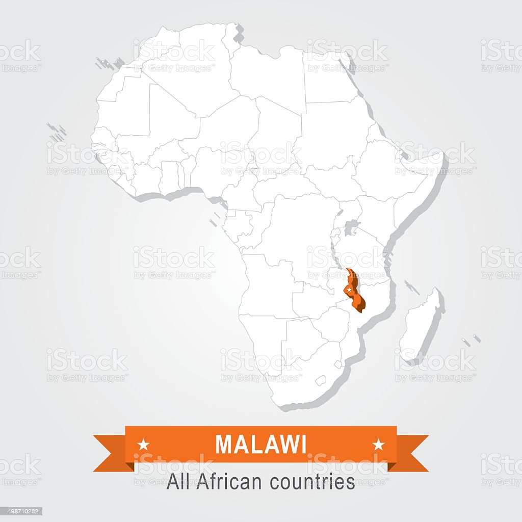 Malawi. All the countries of Africa. vector art illustration