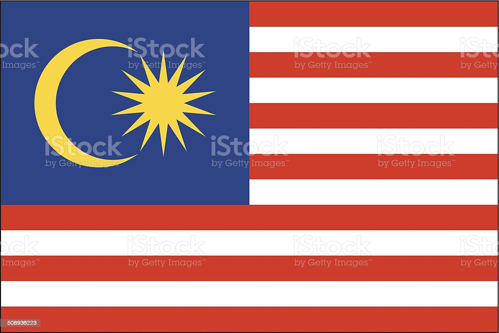 Malaysia flag royalty-free stock vector art