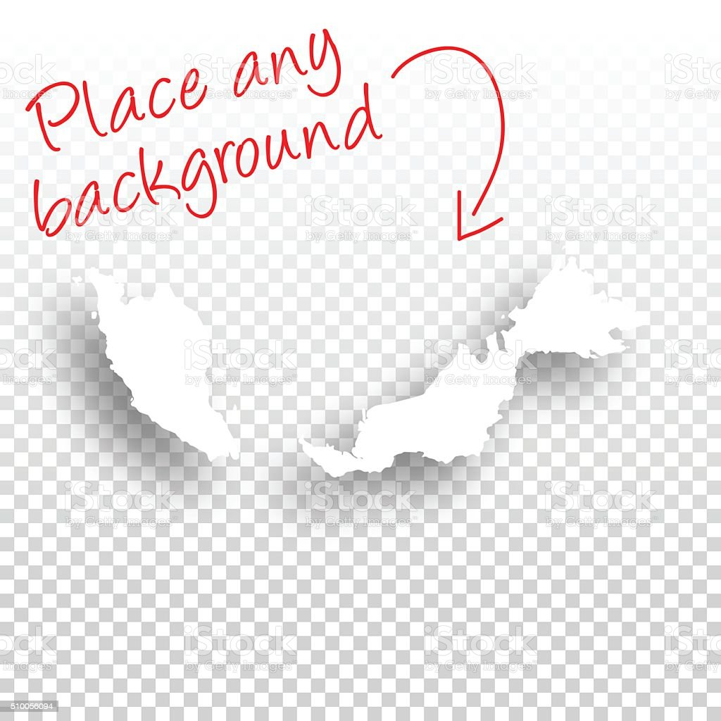Malaysia Map for design - Blank Background vector art illustration